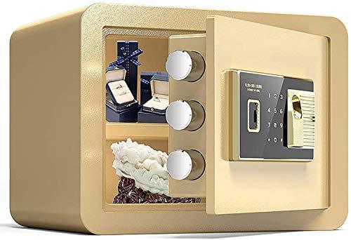 YUKM Caja de Seguridad con Teclado Digital y Caja de Bloqueo Caja Caja Fuerte-Acero aleación de Acero hogar hotelero Hotel Negocio joyería