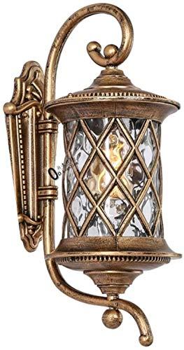 Fuera de la pared pared pared jardín linterna jardín decoración santa bronce terminado bronce con semillas de Claire de lujo vidrio de cristal decoración de decoración colonial (tamaño, s.