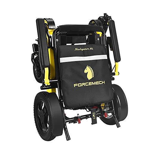 Forcemech Navigator XL - All Terrain Folding Electric Wheelchair - 6th Generation 2021 Model