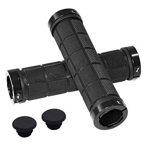 Natuce 1 Pair Universal Bike Handlebar Grips 22mm, Double Lock, Bicycle...