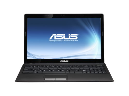 Asus K53U-SX014V 39,6 cm (15,6 Zoll) Laptop (AMD Dual Core C-50, 1GHz, 2GB RAM, 320GB HDD, AMD HD 6250, DVD, Win 7 HP)