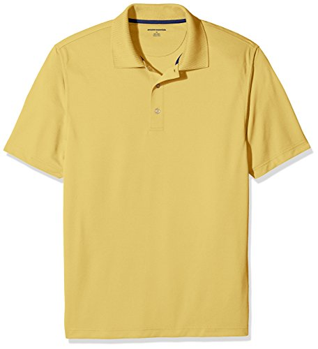Amazon Essentials Men's Regular-Fit Quick-Dry Golf Polo Shirt, Yellow, X-Large