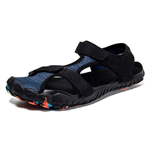 Gaatpot Strandsandalen Herren Damen rutschfest Barfußschuhe Sommer Outdoor Strand Wanderschuhe Wasserschuhe Trekking Wandern Schuhe Blau 39 EU