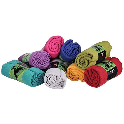 GRIP2 Yoga Towel, Yoga-Handtuch mit Antirutsch-Noppen, rutschfest, Mikrofaser-Yogatuch, sehr gut für Hot Yoga (lila), Yogamattenauflage, antibakteriell