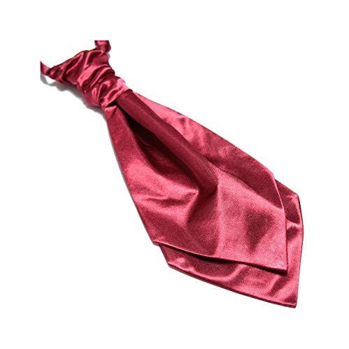LABEL-CRAVATE Lavallière nouée rouge- bordeaux finitions main