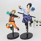 Yangzou 2 Piezas 23-25 Cm Anime Naruto Shippuden Vibration Stars Uzumaki Naruto Sasuke Uchiha Rase...
