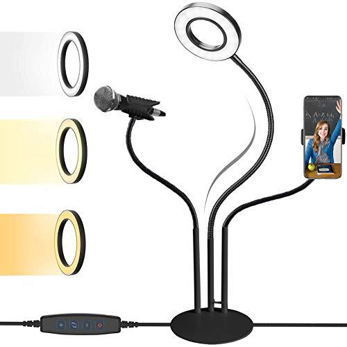 SLE Lámpara Escritorio LED, Flexo Escritorio Infantil con Soporte para Teléfono, Luz Escritorio USB con 3 Modos 10 Niveles de Brillo, para Estudiar, Lectura, Trabajo
