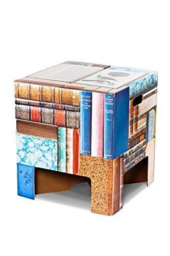 Dutch Design Innovatieve kartonnen kruk, ook te gebruiken als stoel, kruk, nachtkastje of zijtafel, eenvoudig te monteren, 33 x 30 x 30 cm boeken