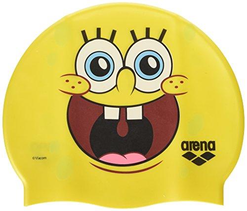 ARENA Spongebob Jr, Cuffia Piscina Bambino, Giallo, Taglia Unica