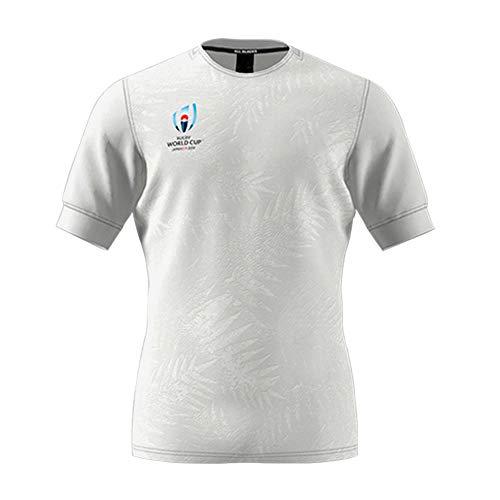 XWZQ American Football Rugby World Cup 2019 New Zealand Jersey T-Shirt Fußball Sportswear Home Kurzarm Classic Gr. M, weiß