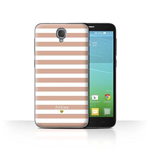 Stuff4Phone Case/Cover/Skin/alcidl2/Custom Stripes/Striped Collection Coeur Rose Nu