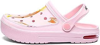 LSWL New Design Summer Clogs Man Sandals Crocks Man Shoes Blue Black Beach Sandal Hollow Slides Slippers Casual EVA Jelly Shoes (Color : Pink, Shoe Size : 44)