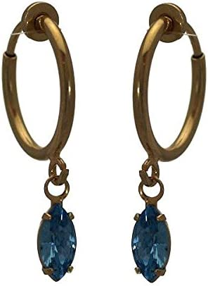 CLEMENTINE CERCEAU Gold Plated Aquamarine Clip On Earrings