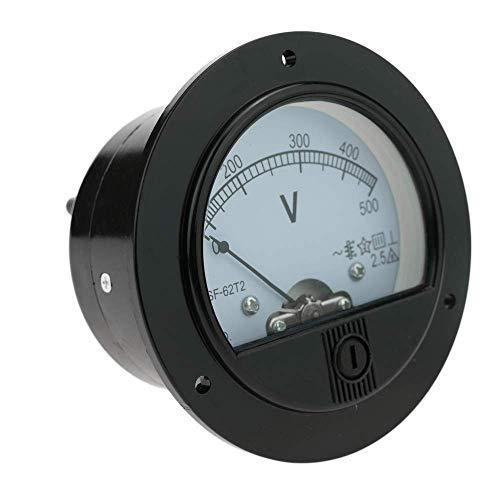 BeMatik - Medidor eléctrico analógico de Panel Redondo 70mm 500V voltímetro
