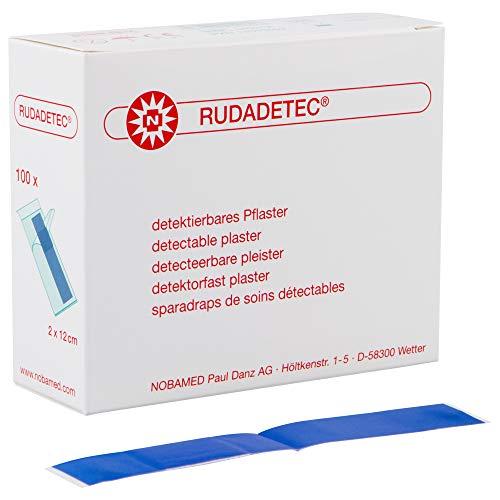 100 x RUDADETEC detektierbare Pflaster Blau, Größen:2 cm x 12 cm