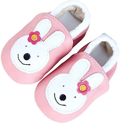 Lvptsh Baby Lauflernschuhe Mädchen Baby Hausschuhe Jungen Weicher Leder Kleinkind Schuhe Baby Mokassins Rutschfesten Lederschuhe