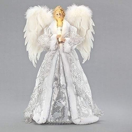 Roman 133852 Led Angel with Candle Tree Topper, 20 inch, Multicolor