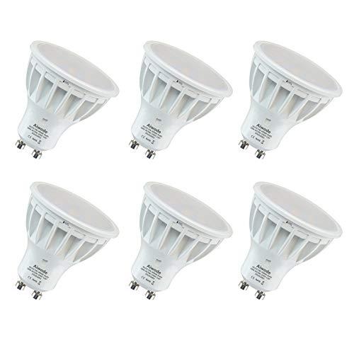 Aiwode 5W Dimmerabile Lampadina GU10 LED Faretti,Bianco Naturale 4000K,Equivalenti 50W,RA85 500LM 120°Angolo del fascio,6 Pezzi.