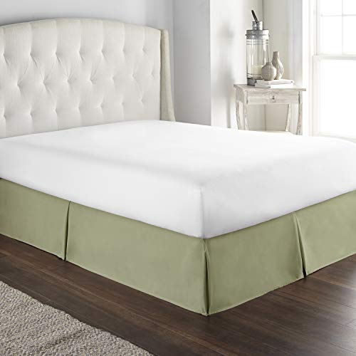 Hotel Luxury Bed Skirt Dust Ruffle 1800 Platinum Collection 14 inch Tailored Drop, Wrinkle & Fade Resistant (King, Sage)