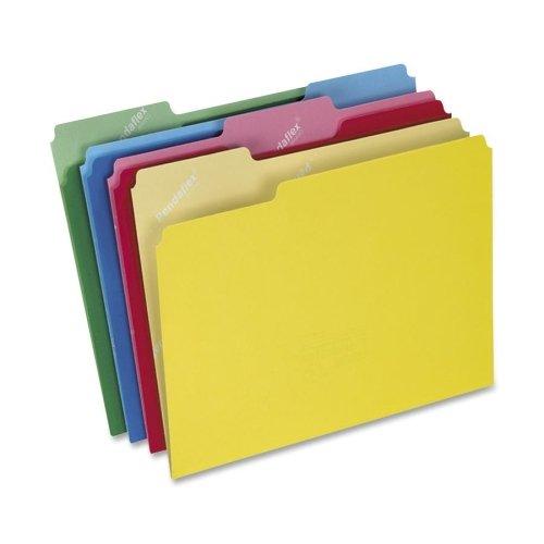 PENDAFLEX CUTLESS 파일 폴더-편지-8.5AQUOTX11AMPQUOT-모듬 위치에 1 | 3 컷 탭-100 | 상자-11PT. -파랑 빨강 노랑 녹색