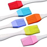 Pastry brush for baking 6pcs, Silicone basting brush for cooking, Cooking brush, It can withstand heat up to 480 degrees fahrenheit, Easy to clean, Silicone brush cooking, Food oil brush, FDDNIUROO
