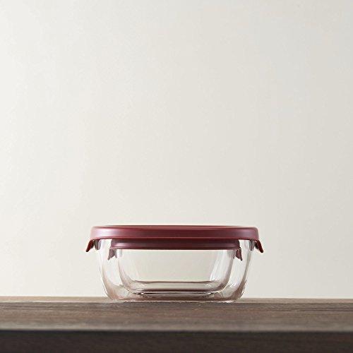 HARIO(ハリオ)耐熱ガラス製保存容器日本製レッドKST-2012-R3個入