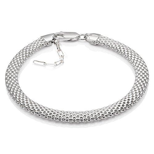 LillyMarie Damen Armkette Silber 925 Ohne Anhänger Längen-verstellbar Schmucketui Muttertagsgeschenk