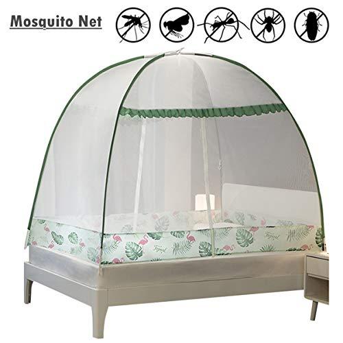 Yangm Mosquito Nets Popup Dome tent Mongools Jurte koepelnet Perfect voor binnen en buiten 2 zijdelingse openingen eenvoudige installatie