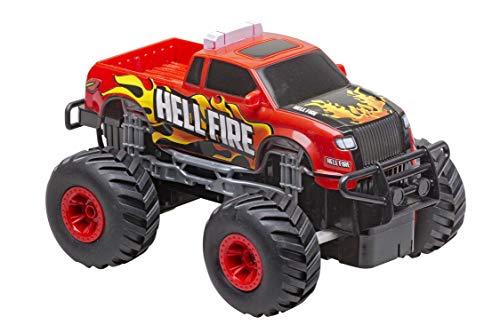 Re.El Toys Pick Up Big Wheels Rosso-Scala 1/20 Mezzi Giocattolo Jeep E Quad, Multicolore, 8001059021222