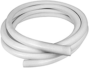 Sun2Solar 1.5 Inch Diameter x 100 Feet Length Flexible PVC Hose | Flexible Pipe White Schedule 40 PVC | Perfect for Plumbing Filtration Systems