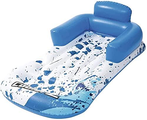Schwimmenring aufblasbare Lounge-Stuhl schwimmende Reihe, verdickter aufblasbarer schwimmender Liege mit Getränkehalter, schwimmendes Bett-Strand-Luftkissen, aufblasbares Schwimmbad-Spielzeug für Kind