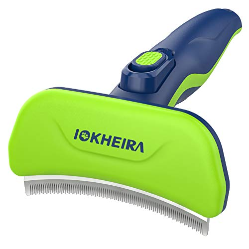 IOKHEIRA Dog Shedding Brush Professional Dog Brush for Shedding with Quick SelfCleaning Button Effectively Reduces Shedding by Up to 95% for Dogs and Cats