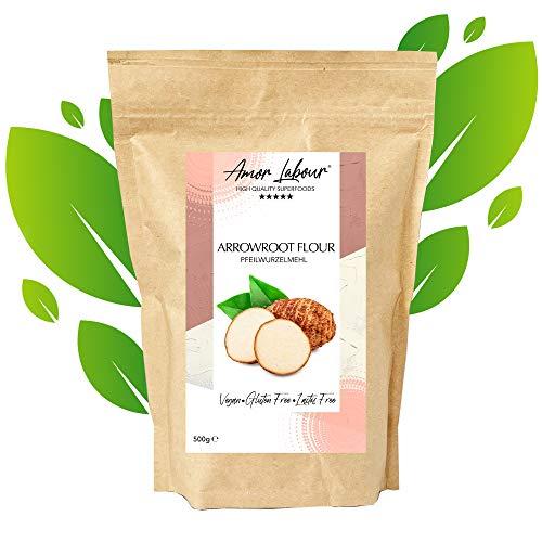 Amor Labour Pfeilwurzelmehl | 500 Gramm | Arrowroot Flour | Stärkemehl | 100% natürlich | vegan | paleo | glutenfrei | perfekt geeignet als Bindemittel zum Backen von Kuchen, Keksen oder Brot