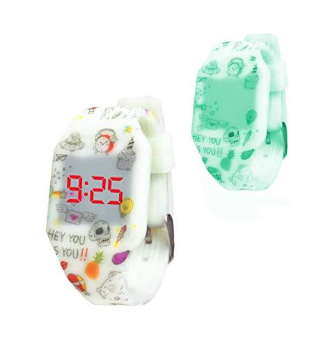 KIDDUS Reloj LED Digital para niña o niño. Pulsera de Silicona Suave....