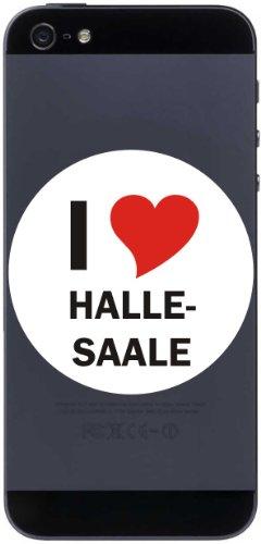 I Love Aufkleber 7 cm mit Stadtname HALLE-SAALE - Decal - Sticker - Handy - Handyskin - Handyaufkleber - Telefonaufkleber / JDM / Die cut / OEM