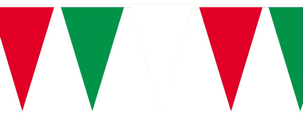 Amscan – 8625 – Guirnalda banderines – 400 x 26 cm – verde/blanco/rojo: Amazon.es: Juguetes y juegos