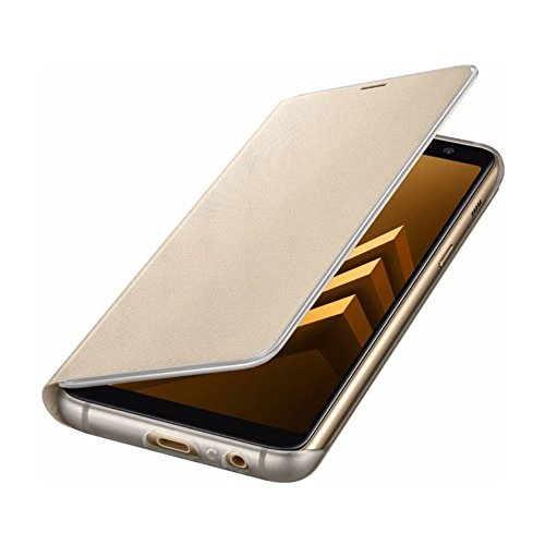 SAMSUNG Neon Flip Cover per Galaxy A8, Notifiche Tramite Bordi Illuminati, Gold