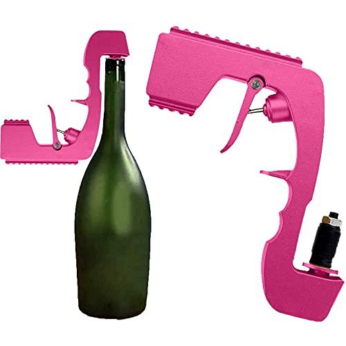Pistola de champán, barra pulverizadora de vino, cerveza, champán, tapón de beber, Eyector, dispensador de alimentación, herramientas de cocina y Bar coctelería,Rosado