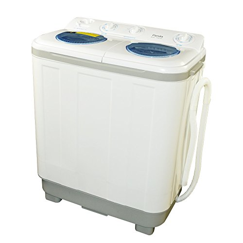 New Version Panda Small Compact Portable Washing Machine (15 lbs Capacity) with Spin Dryer -Larger Size, Built in Pump