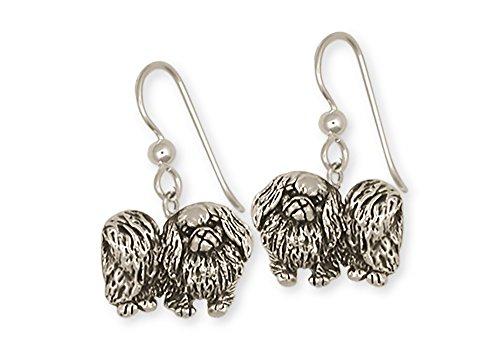 Pekingese Jewelry Sterling Silver Pekingese Earrings Handmade Dog Jewelry...