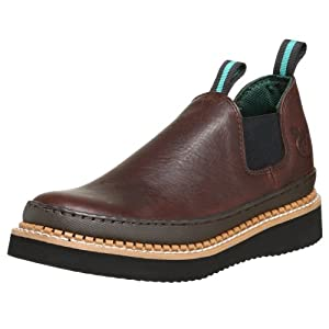 Georgia Boot Men's GR274 Giant Romeo Work Shoe, Soggy Brown, 13 M US