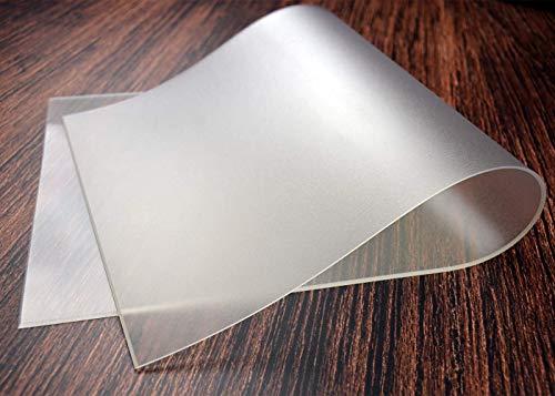 Vio Life Tischdecke Tischfolie Tischschutzfolie transparent einseitig MATT Keine Blasenbildung, Schutzfolie 2mm für Glastisch & Hochglanzlack neu im Sortiment (abgeschrägte Kanten, 110 x 70 cm)