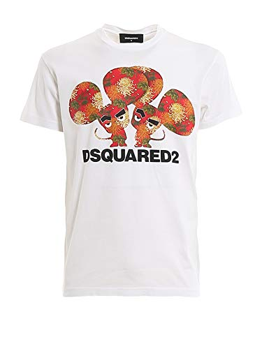 DSQUARED2 Year of The Rat Jersey T-Shirt White LG
