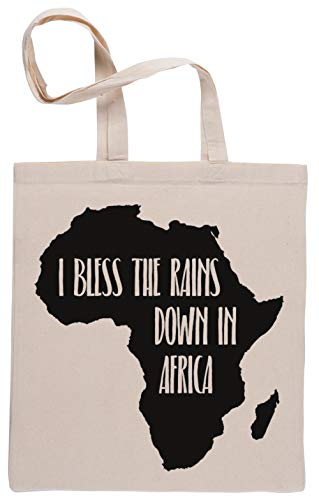 Capzy I Bless The Rains Down in Africa Sac à Provisions Réutilisable Shopping Bag Beige