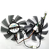 FD7010H12S DC 12V 0.35A VGA Cooler Cooling Fan 4-lines For Sapphire HD6850/6970/7870/7950/7970 FD7010H12S Graphics Card