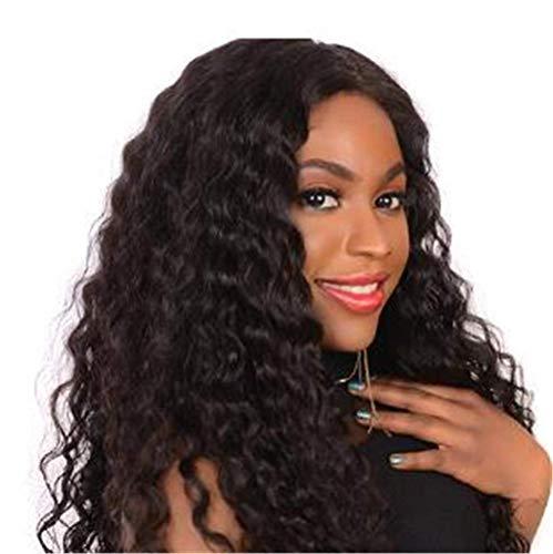 Perruques Femmes Avant de Lacet Perruque Demi Simulation Noir Cheveux Bouclés Femmes Perruque Bouclée Perruque Moelleux