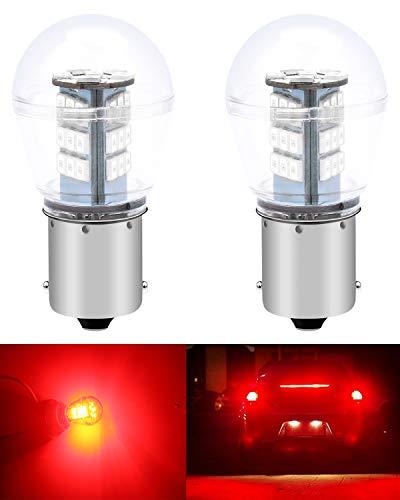 ALOPEE Paquet de 2 1156 BA15S 1141 1003 7506 1073 Lampe à DEL Rouge Extrêmement Brillante 9-30V-DC, 2835 33 Ampoules de Rechange pour Lampes de Frein Arrière