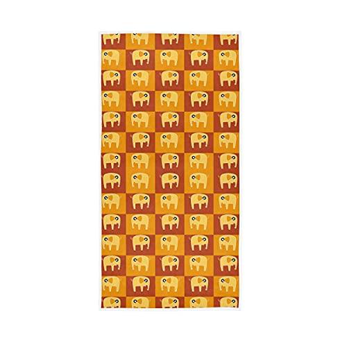 HaJie - Toalla de microfibra con estampado de elefante, toalla de mano suave para hombres y mujeres, 30 x 15 pulgadas (76 x 38 cm)