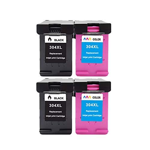 THQC 304xl Nueva versión for HP304 HP 304 XL Deskjet Envy 2620 2630 2632 5030 5020 5032 3720 3730 5010 Impresora (Color : 2bk 2color)
