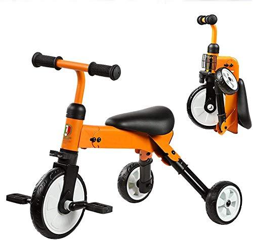 FEE-ZC Bici per Bambini Pieghevole Universale per Triciclo Bicicletta da 18 Mesi a 4 Anni